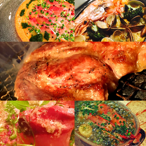 ◆小碗◆◆卡帕奇歐◆Ahijo魚◆兩路牛排◆◆海鮮飯甜味飲料2H4500日元與釋放