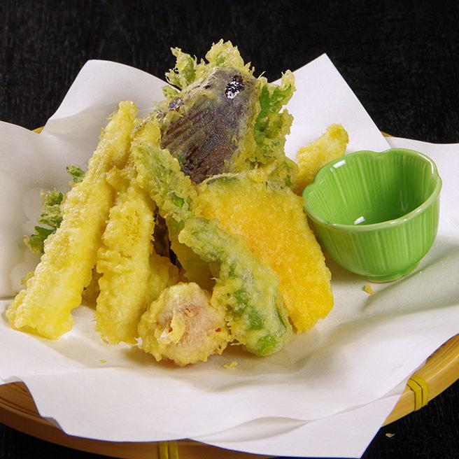 旬野菜天ぷら盛り