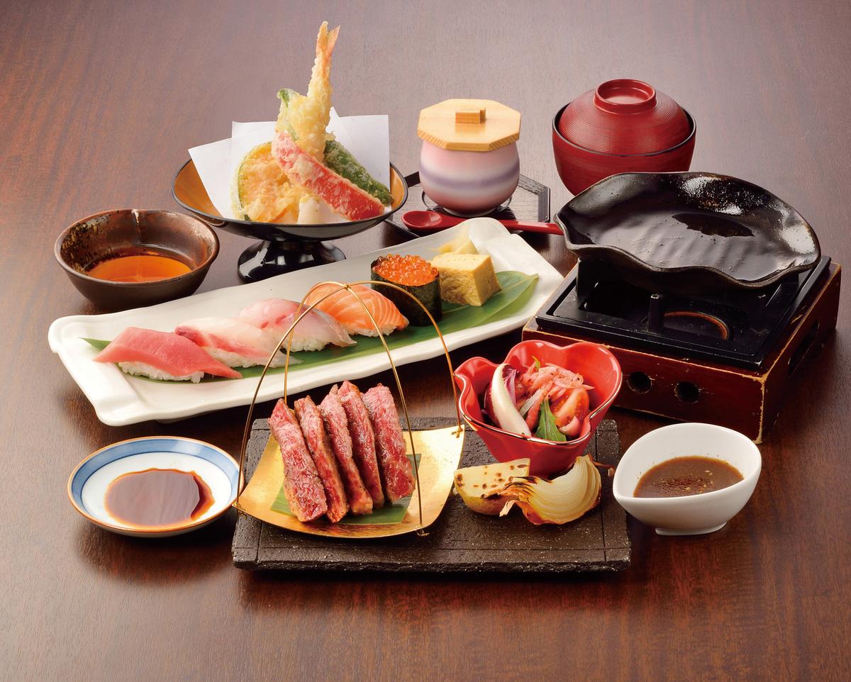 Kampo Wagyu牛肉鐵板燒壽司Gozen