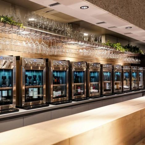 The number of introduced wine servers is the largest in the world! You can always enjoy 48 kinds of glass wine.You can enjoy your favorite wine carefully, compare it with others, and enjoy it ... it's such a shop that you want to go through again and again!