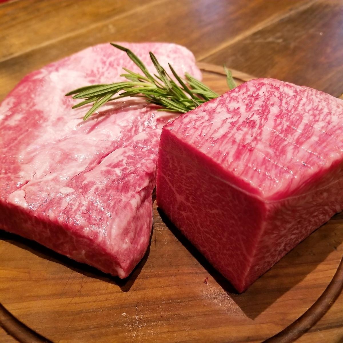 本日の熾火焼き肉料理