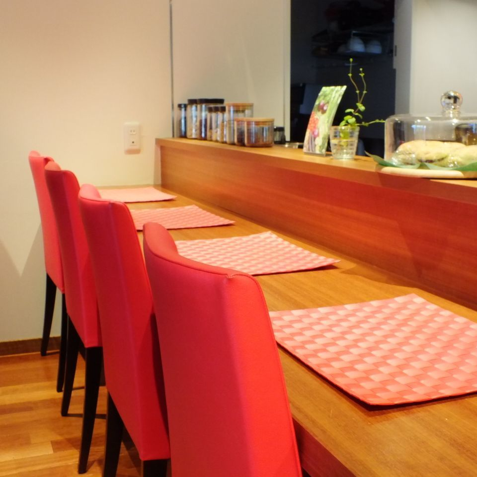 Lamp's counter seat.It is perfect for lunch time of one person!