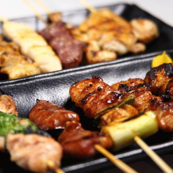 雞胸肉串/肉丸/體/軟骨/烤梅奧/尾的白色肉串