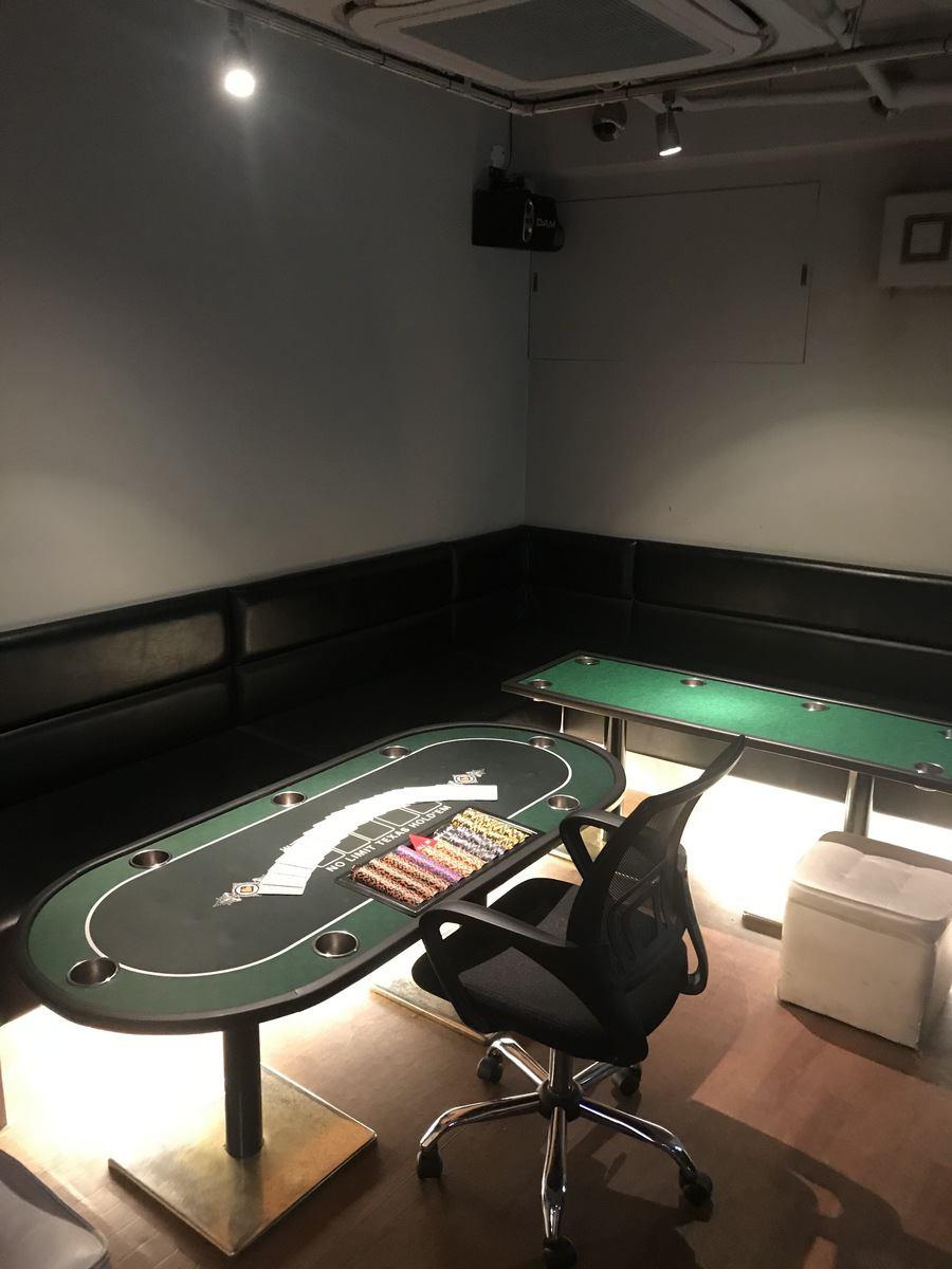 ポーカー・BJ・バカラなどを自由に遊戯可能です!