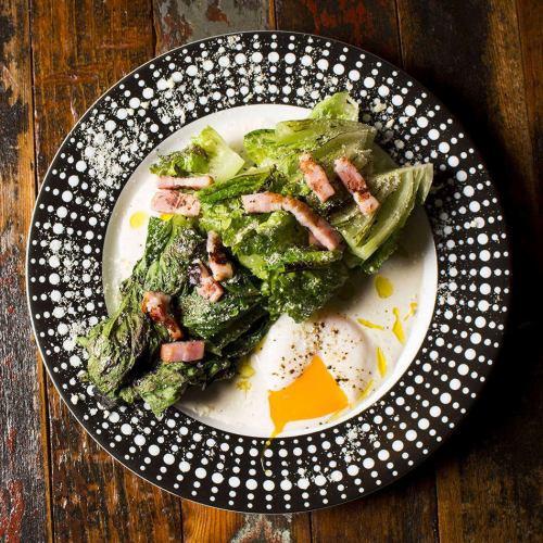 烤长叶莴苣凯撒沙拉