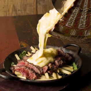 黑牛红肉牛排块菌蘑菇酱