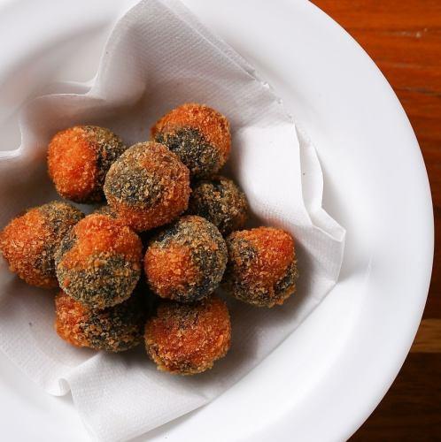 橄榄炒虾仁
