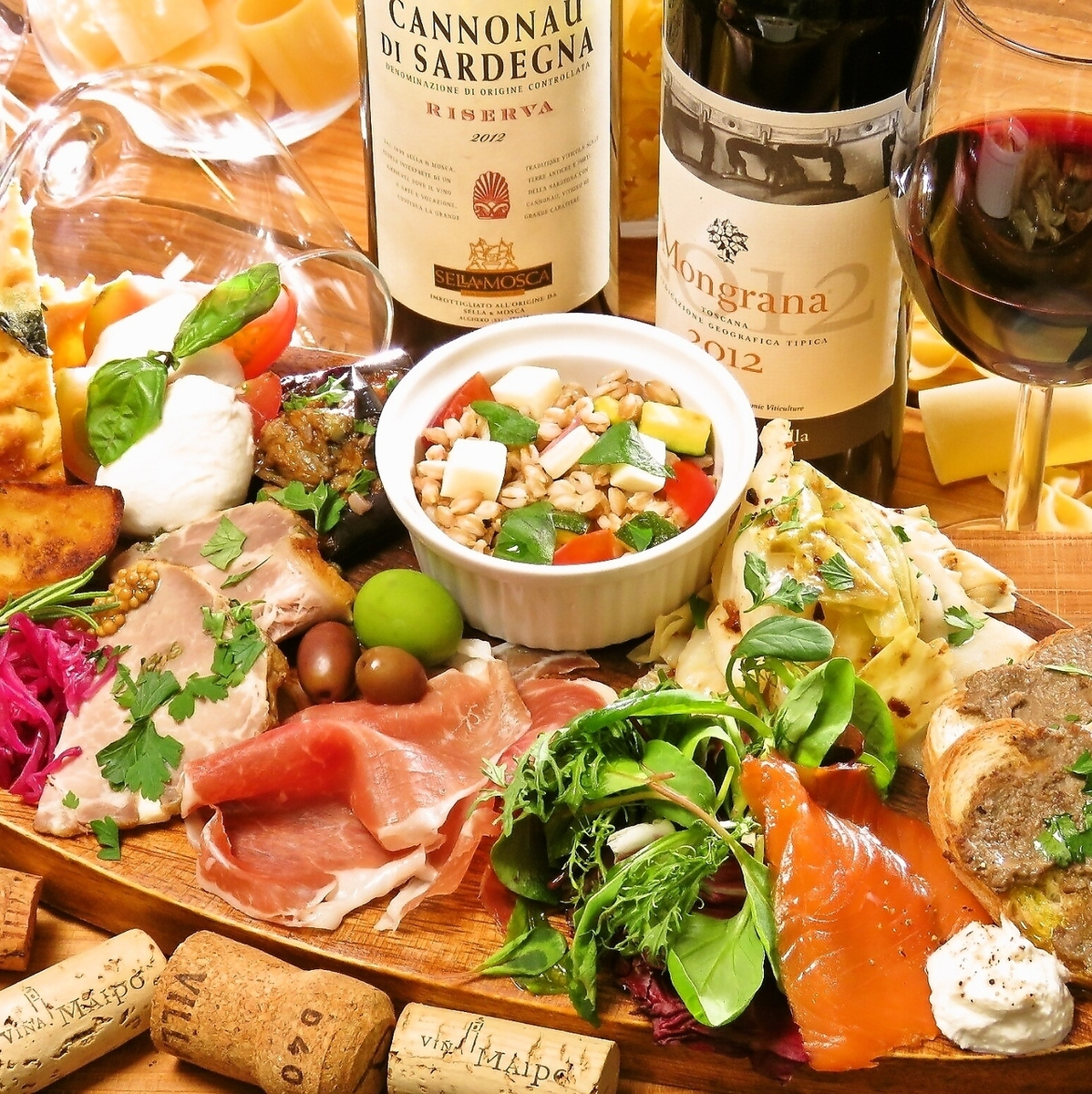 季節の食材と味覚が凝縮した『アンティパストミスト』