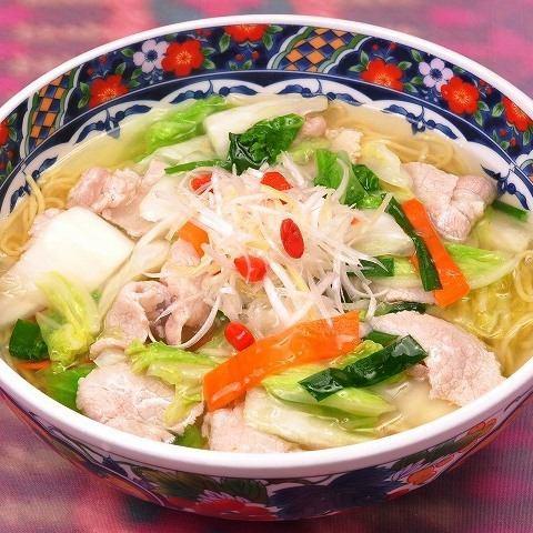 白菜と豚肉のうま煮そば