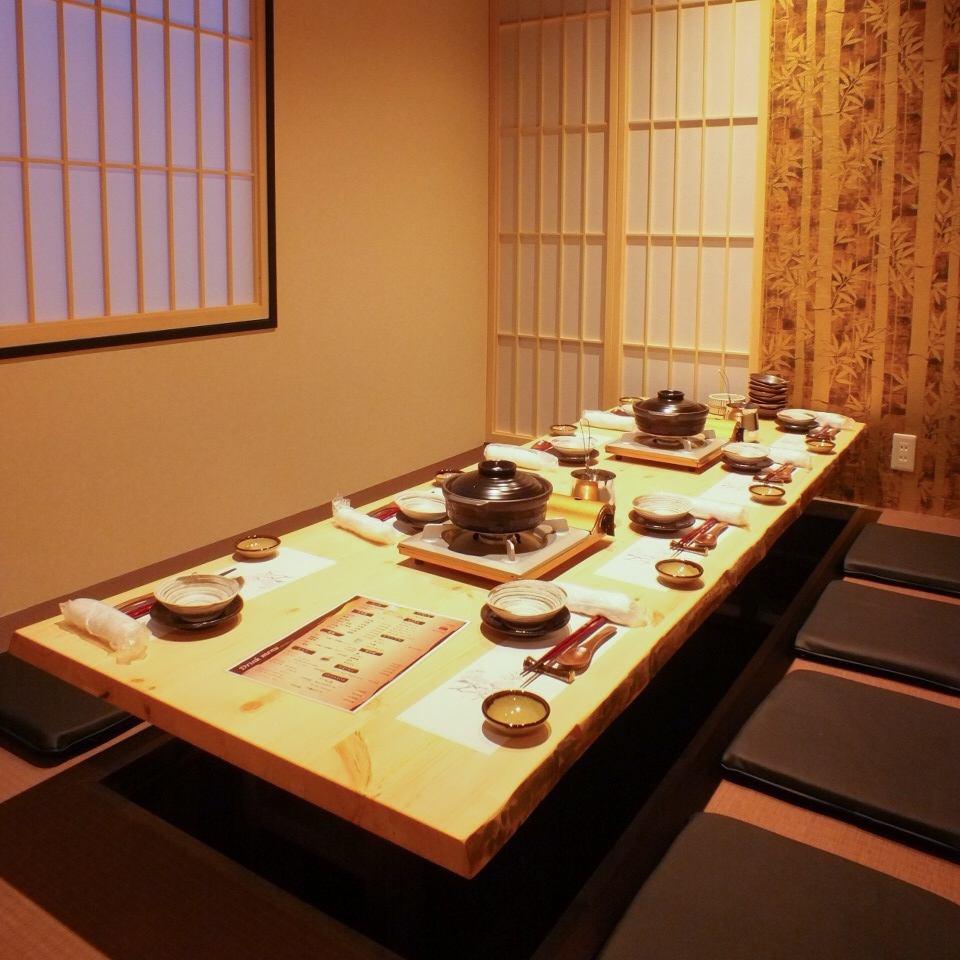 全席完全個室の落ち着ける空間★美味しいお料理と空間を堪能