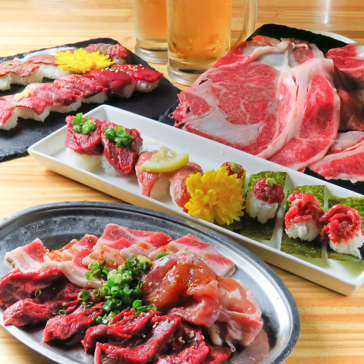 All you can eat meat sushi and yakiniku!