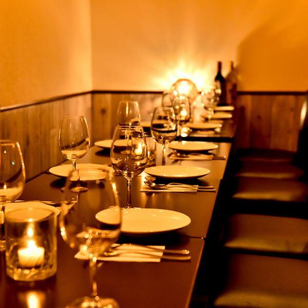 団体様におすすめのゆったりお席が人気!企業宴会や接待などに◎貸切パーティー時には大型モニター&カラオケ使用無料♪
