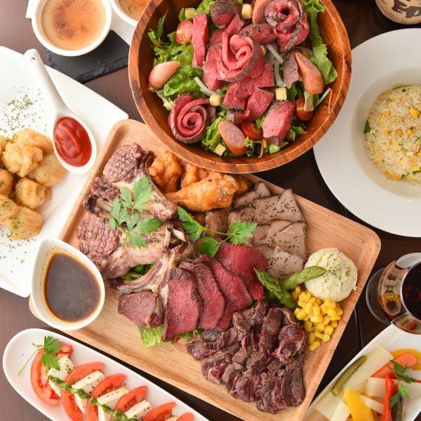極上の和牛食べ尽くし♪飲み放題付き宴会コースが3800円より!