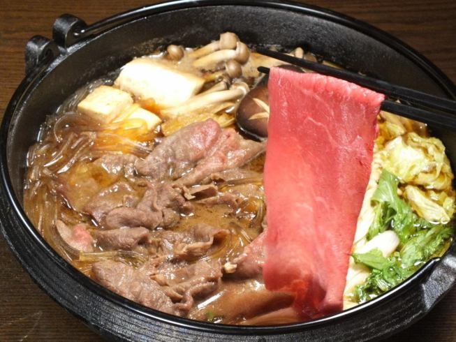 A-4 Sukiyaki with a grade of grade or higher or Udon meat.