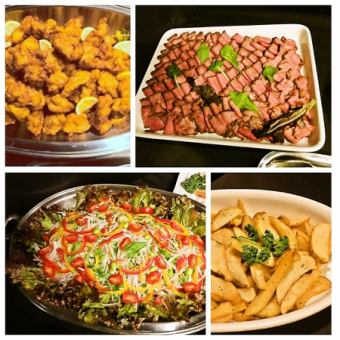 120分鐘煮熟的菜餚,無限暢飲6項3000日元套餐⇒免費使用超過50人的秘書♪
