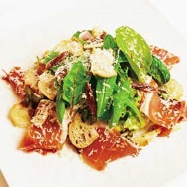 시저 샐러드 햄 함께 Caesar salad with prosciutto