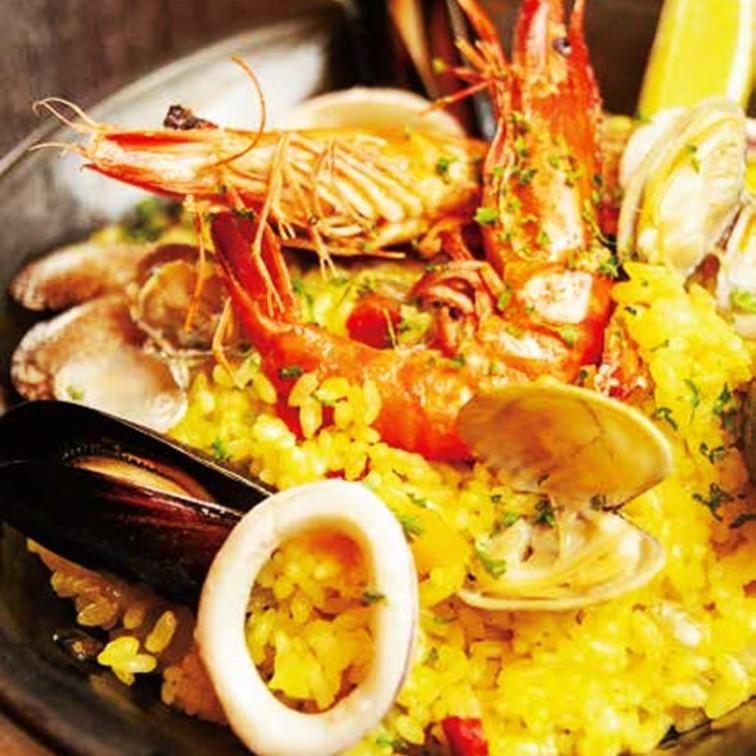 해물 빠에야 원단 Seafood paella