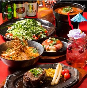 【15 people ~ reception】 2 hours all you can drink + appetizer · salad · pottery · fried food · meat dish · dessert etc 8 items 3500 yen