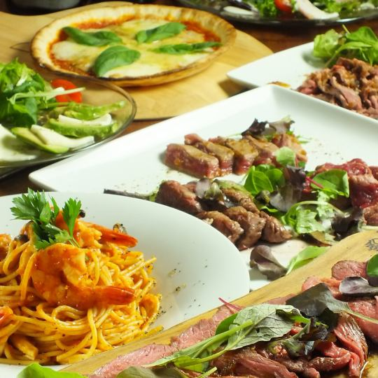 "【Classic !! Meat Balcose】 ""120 minutes drinking and drinking"" 3500 yen !: 9 items including roast beef and meat deposits 2 kinds ★"