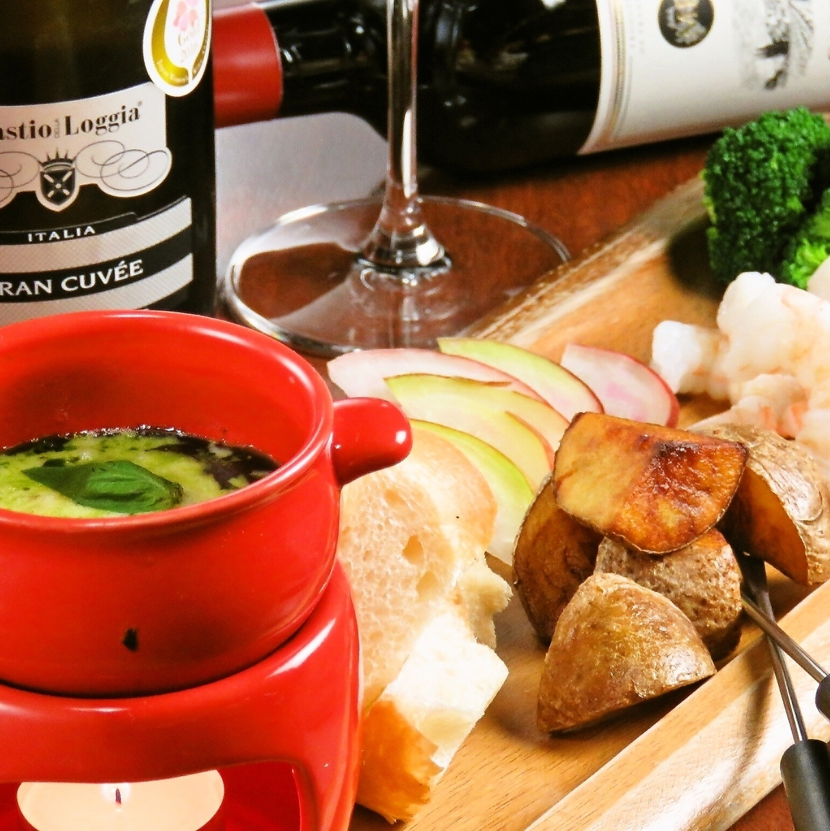 Girls' party limited ♪ Cheese fondue course