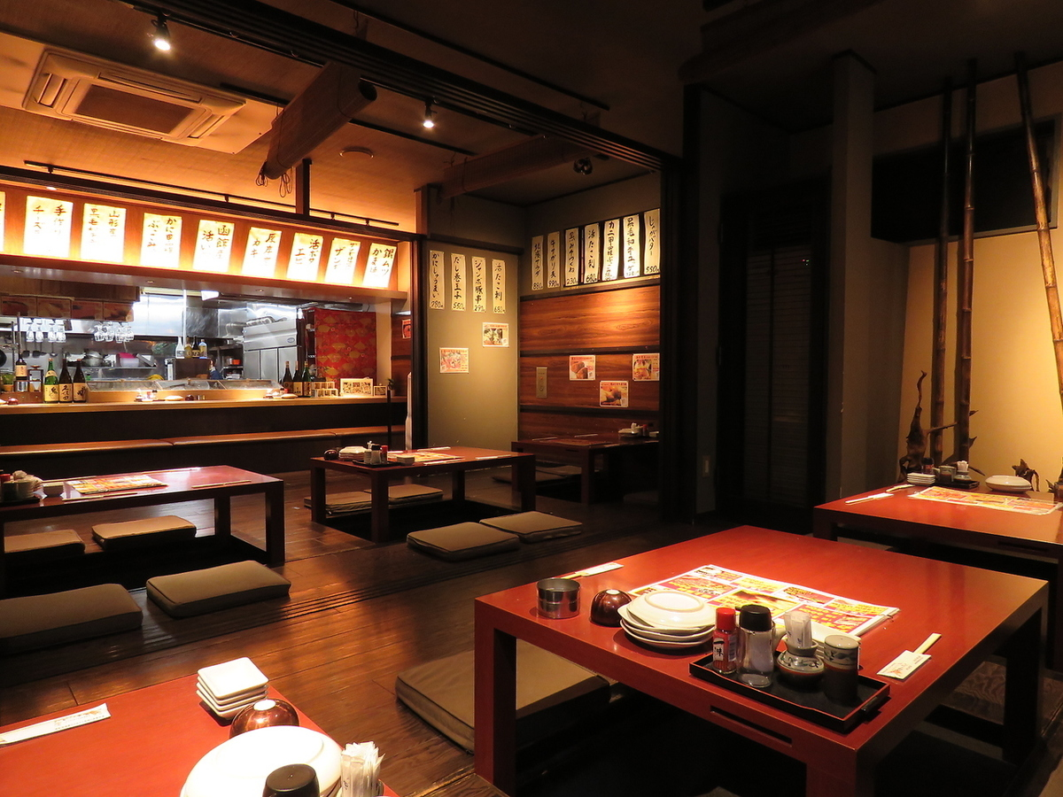 It is a seat of two people drilling OK.It is a seat for digging overlooking the open kitchen.Please also have fun making cuisines of lively craftsmen.