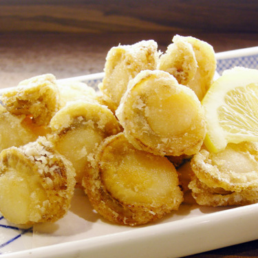 Deep-fried scallops