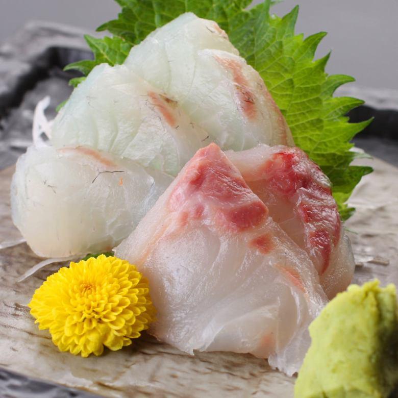 鲷鱼的生鱼片