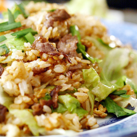 Beef grilled fried rice