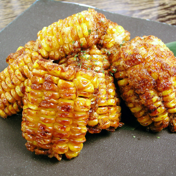 Deep-fried corn