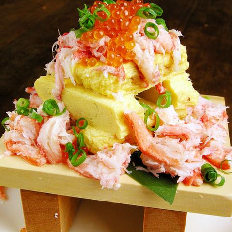 螃蟹蕎麥湯包裹了雞蛋
