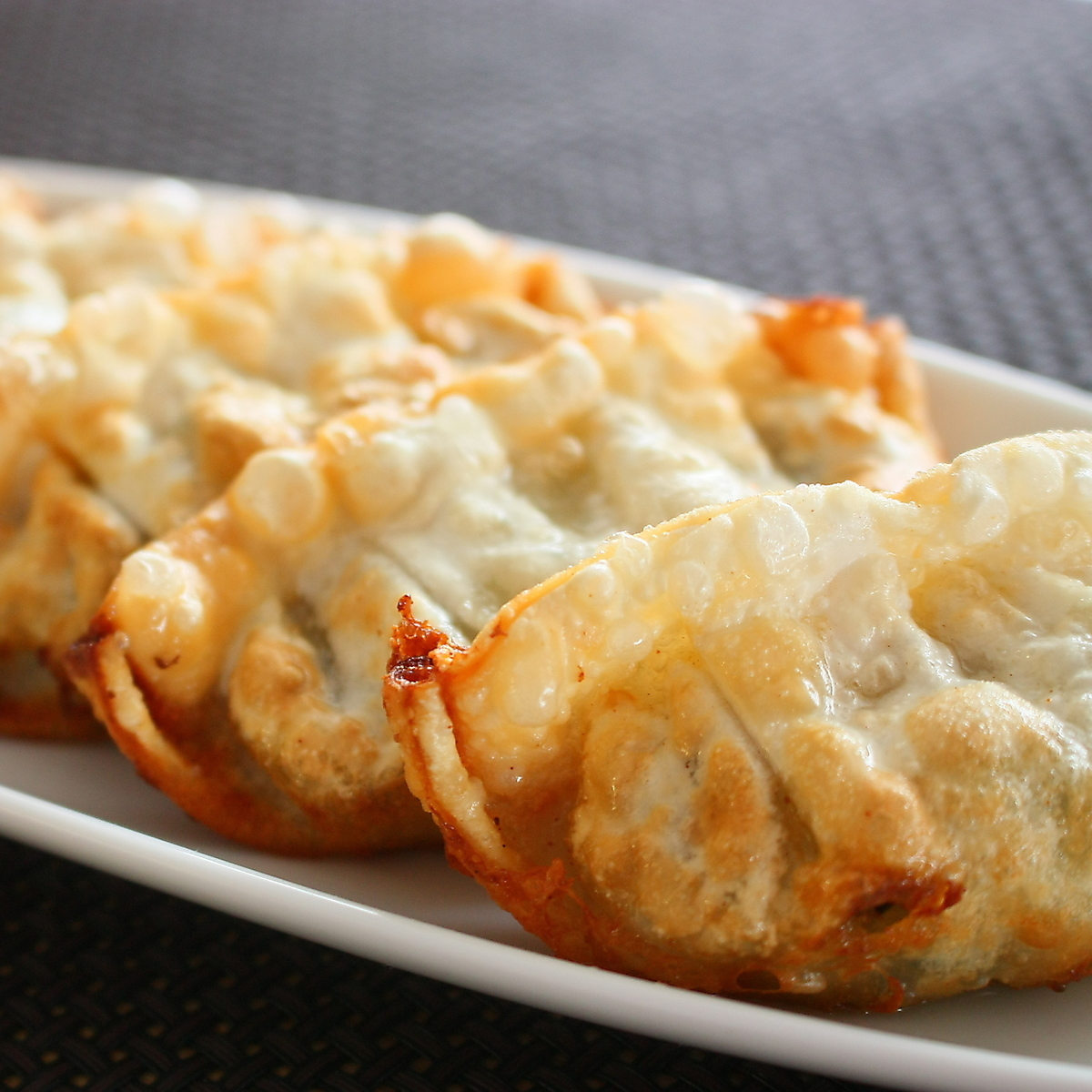 【Homemade oil gonorn sauce】 fried dumplings