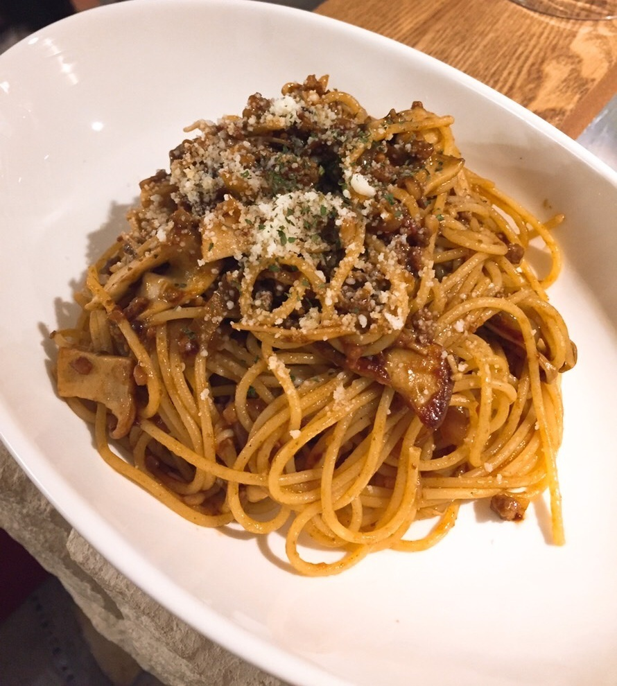 Mushroom ragouta sauce pasta