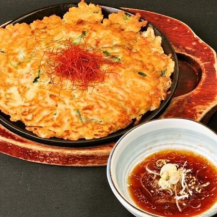 海鮮チヂミ/いか鉄板焼き/砂肝にんにく炒め/子持ちカレイの煮付け/赤魚の煮付け