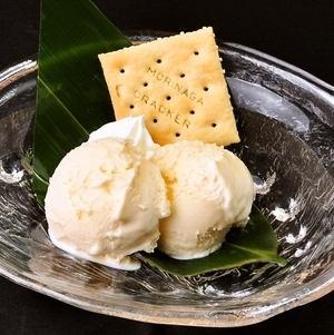 バニラアイス/ゆずシャーベット
