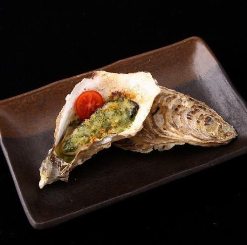 牡蠣の香草焼き