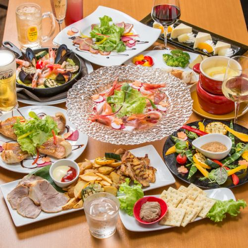 【標準12產品+所有你可以喝】3980日元◇用芝士奶酪♪推薦給年終派對!