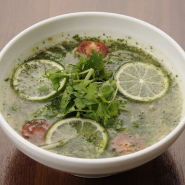 Lime accented Pakuchi Vietnamese Noodle (Fo)