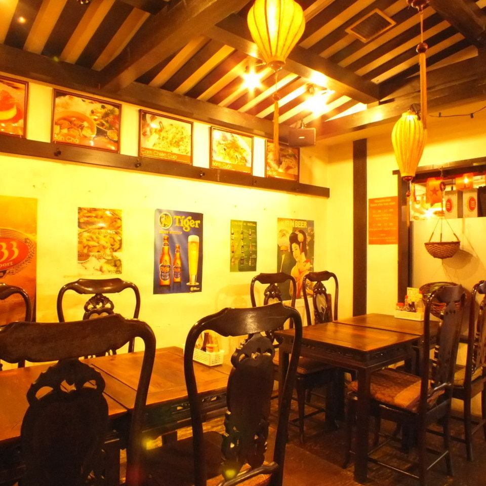 Hoi An floor, with exclusive use for 20 people OK.As we set the table according to the number of people, please use for various large and small banquets.