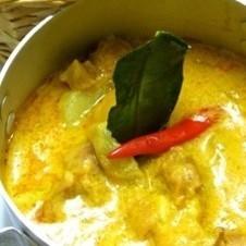 雞椰子咖哩用法國麵包
