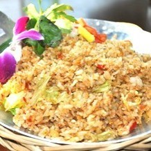 Shrimp and Lettuce Lemongrass Fried Rice (Spicy or Not Spicy) / Dried Fish Saigon Downtown Fried Rice