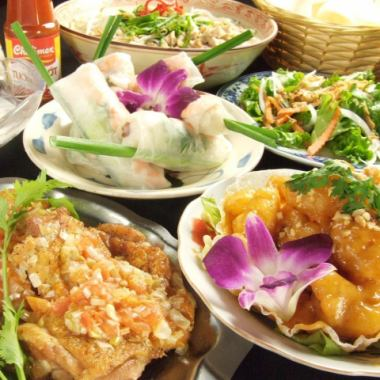 """【For various banquets ◎】 All you can drink ◆ """"Vietnam Banquet Course"""" All 9 items 4000 yen / 10 items 5000 yen in total"""