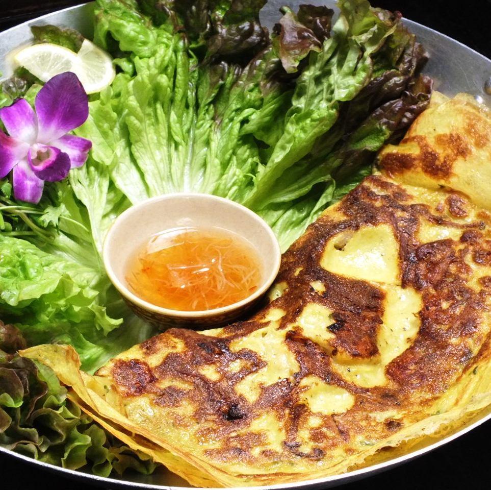 【Specialty Ho Chi Minh】 Binseo (Vietnamese version Okonomiyaki)