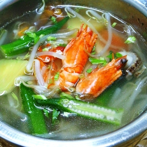 Kaincure (sweet and sour soup of shrimp)