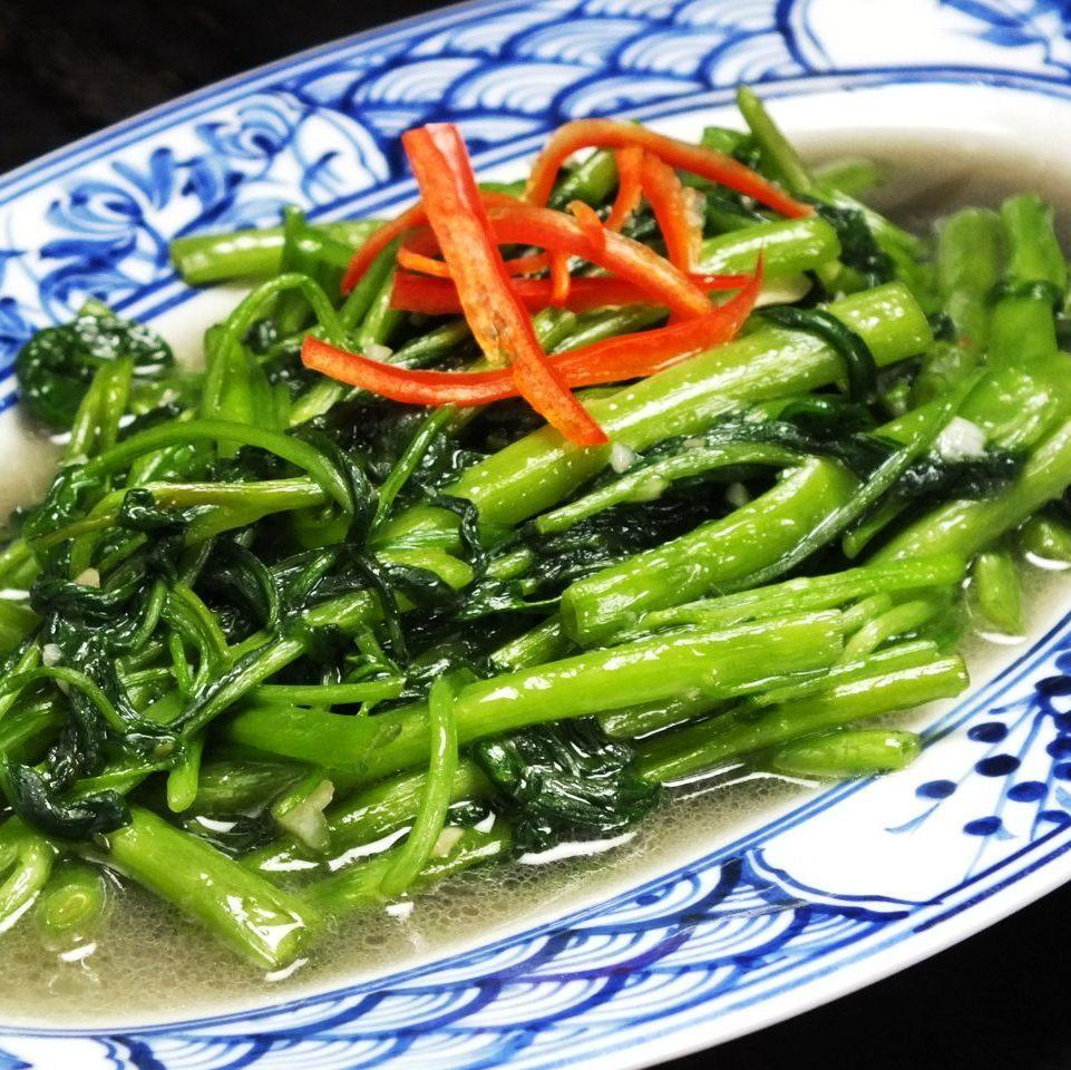 Raumungsaitoi (stir-fried gyakusa)