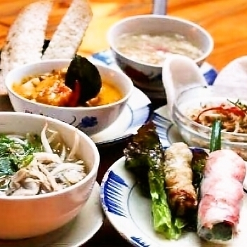 ★ All five items lunch course ★ Prepared by 2500 yen!