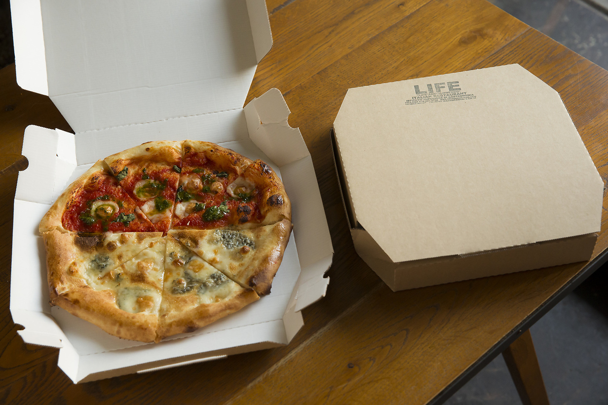 LIFE's pizza can take out!