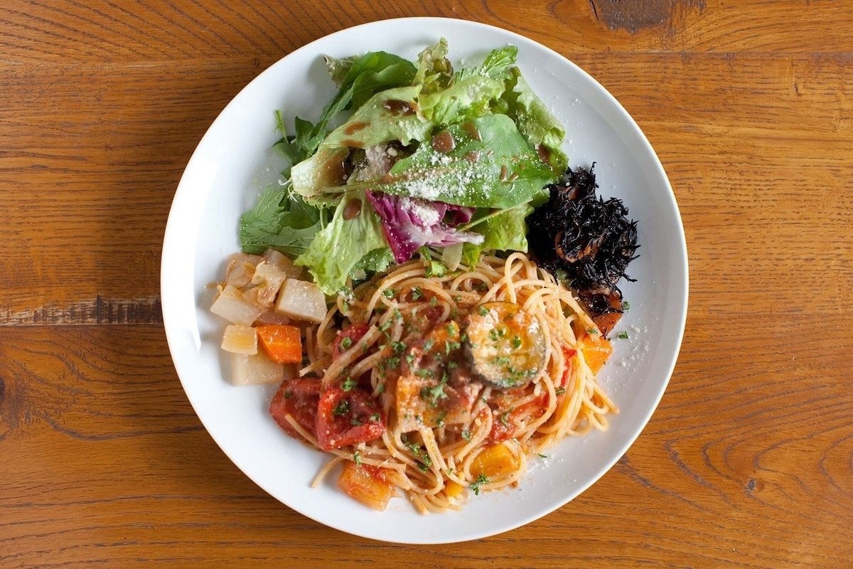 LIFE popular menu pasta lunch.