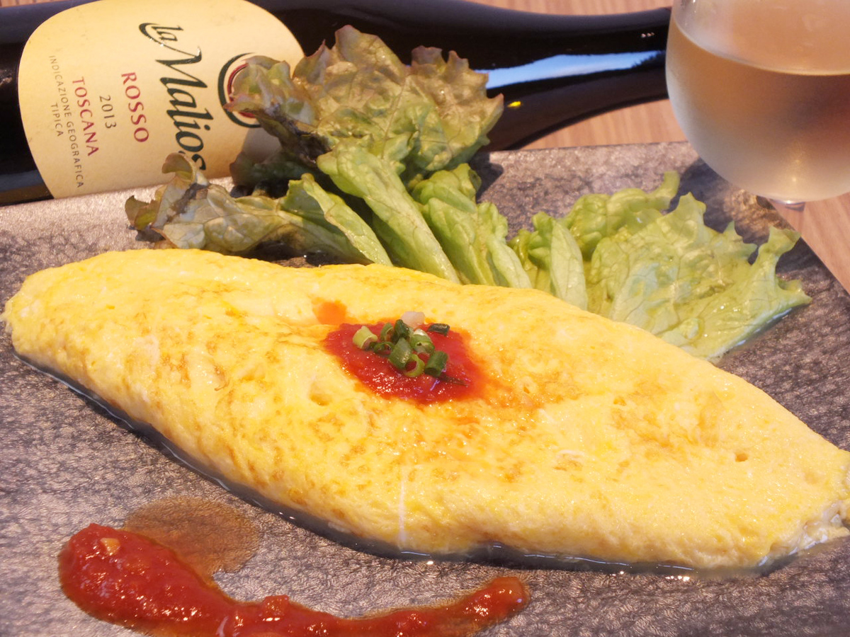 Flying Saikoku Omelet with rolled omelet with chicken eggs
