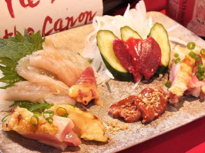 [飛揚Saiwainiwatori的生魚片]你能吸引您的材料直接的味道♪