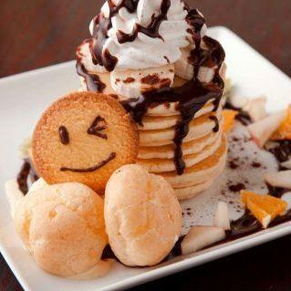 초코 바나나 팬케이크
